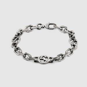 [해외 한정 모델] 구찌 팔찌 Silver bracelet with Interlocking G ‎620798 J8400 0811