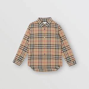 버버리 영국 여성 Vintage Check Cotton Poplin Shirt 80141341